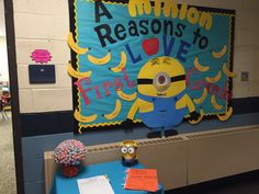 Minion beginning of year bulletin board