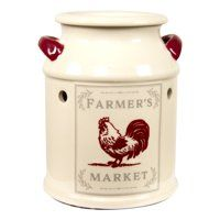 Better Homes & Gardens Full Size Wax Warmer, Farmhouse Milk Can Scented Wax Warmer, Scented Wax Melts, Painted Milk Cans, Electric Wax Warmer, Rooster Kitchen Decor, Red Rooster, Rooster Plates, Wax Burner, Wax Warmers