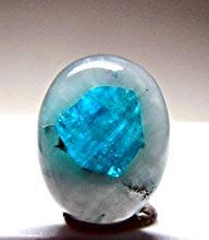 Paraiba Tourmaline in Quartz. Very rare..