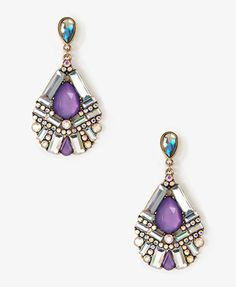 Bedazzled Teardrop Earrings | FOREVER21 - 1021839655