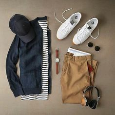 I know it's not summer already. But who says you can only wear striped tees in the summers. Just later it up with warm and cosy jacket to wear your striped tee. We can… #mens #fashion