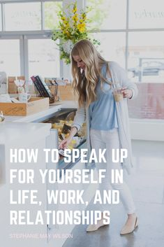 finance jobs How to speak up for yourself, Speaking up for yourself, How to advocate for ourselves, Standing up for yourself You At Work, Finance Jobs, Stand Up For Yourself, Today Episode, Self Improvement Tips, Self Discovery, Christian Women, Life Motivation, Love People