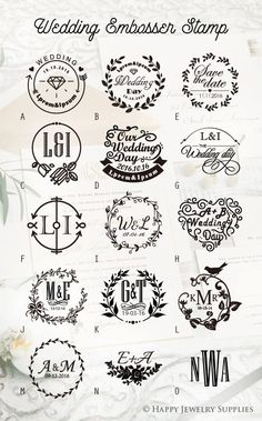 Design Your Own Wedding Embosser Stamp / by HappyJewelrySupplies