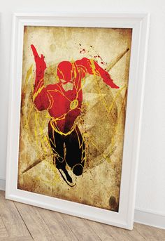 Flash (Scarlet Speedster) Minimalist Posters- Homage to DC Comic's The Flash by MaJiKartwork on Etsy https://www.etsy.com/listing/177630194/flash-scarlet-speedster-minimalist