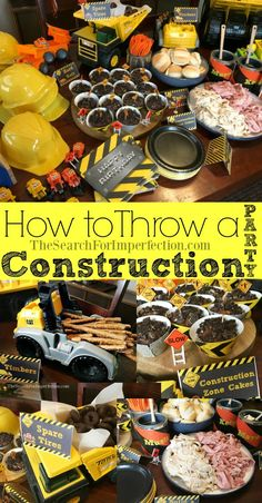 How to Throw a Construction Themed Birthday Party - - How to Throw a Construction Themed Birthday Party Lukas Birthday Wie man eine Geburtstagsfeier zum Thema Bau veranstaltet 2nd Birthday Boys, 2nd Birthday Party Themes, Birthday Ideas, Digger Birthday, Party Themes For Boys, 3 Year Old Birthday Party Boy, Birthday Banners, Farm Birthday, Birthday Recipes