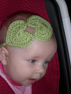 Crocheted hearts, because every little girl needs to keep the hair out of her eyes.