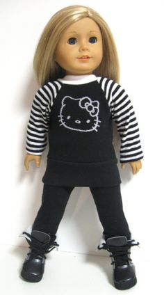 American+girl+doll+clothes+++++Hello+Kitty+by+123MULBERRYSTREET