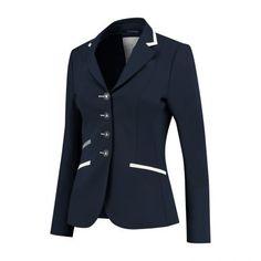 Navy, white & grey Show Jackets, Equestrian Style, Swarovski, Blazer, Navy, Glamour, Women, Fashion, Shabby Chic