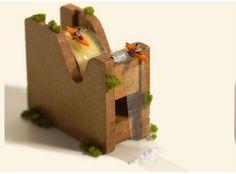 Waterfall Tatsuya Tanaka Miniature Calendar