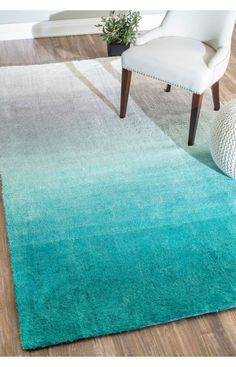 Rugs USA Ombre Shag OS01 Turquoise Rug.Rugs USA pre Black Friday Sale up to 60% Off! Area rug, rug, carpet, design, style, home decor, interior design, pattern, home interior, trends, home, statement, fall,design, autumn, cozy, sale, discount, interiors, house, free shipping, fall decorations, fall crafts, fall décor, great winter, winter, warm, furniture, chair, art.