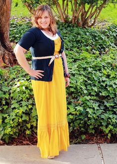 Maxi, belt, yellow and blue!!