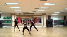 """dance fitness choreography video to """"push it"""" by salt-n-pepa (lots of focus on the abs)"""