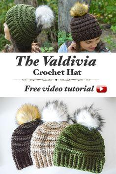 Precioso gorro Valdivia tejido a Crochet, tutorial y patrón, paso a paso, gratis!