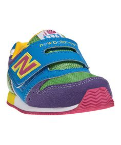 Take a look at this Purple & Blue Rainbow 996 Running Shoe - Kids on zulily today!