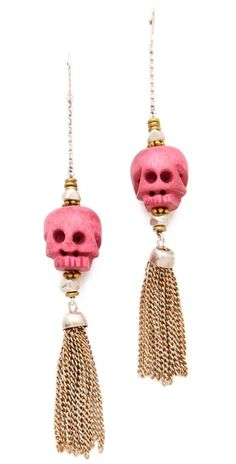 Bing Bang Calavera Tassel Earrings