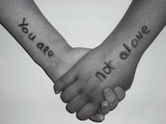 You are not alone. Great post. --When you want to give up because each day is filled with such excruciating pain that there isn't room for anything else and you realize that not only is this not living, but it's also not surviving. It's just suffering and you can't imagine continuing this existence for a lifetime-You are not alone.