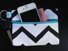 Chevron Keychain Wallet by stitch248 on Etsy, $12.00