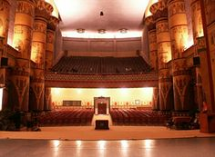 Egyptian Auditorium House at the McAlester Scottish Rite Masonic Center in Oklahoma, USA