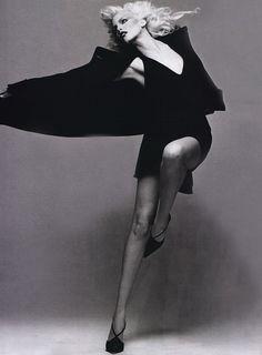 """""""Le Freak C'est Chic"""", Harper's Bazaar US, September 1994  Photographer: Patrick Demarchelier  Model: Nadja Auermann  Makeup: Kevyn Aucoin  Hair: Yannick d'Is"""