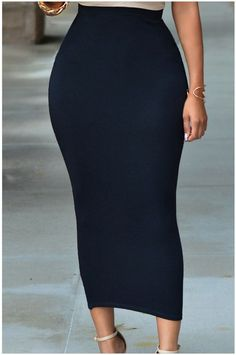 Description: Femme Fatale Long Skirt Knock 'em dead in this bold skirt. Fits like a glove. Material: Spandex, Polyester Length: Mid-calf, Midi Silhouette: Pencil Waistline: Empire Colors available: Black, Gray, Green Sizes available: S M L l Actual color of item may be slightly different from the pictures shown on the website, this is caused by many factors such as monitor and light brightness.