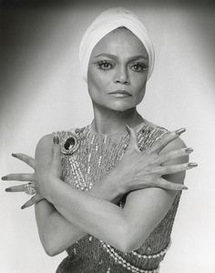 Eartha Kitt. I met her many times during my time redoing the Carlyle Hotel.. Always the perfect lady!