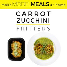 Hey there! Its @danikabrysha from @modelmealskitchen with a great snack or side recipe. Our CARROT ZUCCHINI FRITTERS WITH TARRAGON PESTO are a plant-packed snack or great with a yolky egg for breakfast. And Tarragon Pesto? Sounds fancy AF but is really quite simple to make. Try bringing these to your 4th of July party instead of the ol Cool Whip Berry Flag Cake and I guarantee everyone will stay up late enough for fireworks.  Serves 4 use organic ingredients whenever possible fritters 1/2 lb…