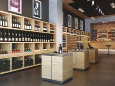 "Retail Design | Wine Store | BWS | Liquor Store | ""Wine store"" visualization by Viarde"