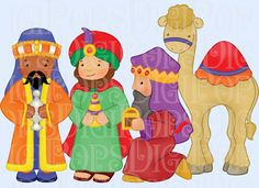 Nativity Digital Clip Art Set Personal and Commercial by DigiPops