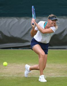 Maria Sharapova Photos - Maria Sharapova of Russia in action during a practice session prior to the Wimbledon Lawn Tennis Championships at the All England Lawn Tennis and Croquet Club on June 28, 2015 in London, England. - Previews: The Championships - Wimbledon 2015
