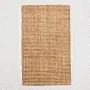 Basket-Weave Jute Rug