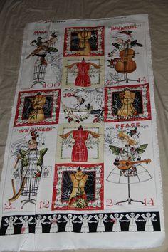 J Wecker Frisch HANDMAID SHE WHO SEWS Angel Band Christmas music fabric 11 block #JWeckerFrischforQuiltingTreasures