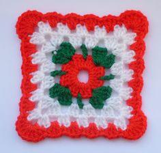 Instant Download Crochet PDF pattern - LD-0111Christmas afghan block