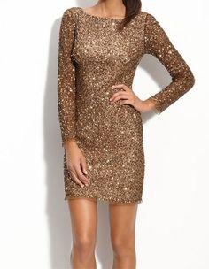 Adrianna Papell Sequin Shift Dress $ 258 Value