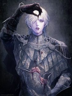 Bloodborne, Bloodborne The Old Hunters / 血の穢れ / February 2020 - pixiv Bloodborne Characters, Bloodborne Art, Dnd Characters, Fantasy Characters, Fantasy Rpg, Dark Fantasy Art, Fantasy Artwork, Dark Art, Fantasy Character Design