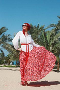 wholesale dealer 30ad1 f1eab Red MAXI SKIRT   LONG Circle Skirt Autumn   Boho Skirt by aaberi  Tribaalikuviot, Boho