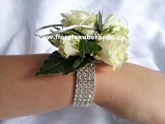 prom flowers wristlets | side view and bracelet view