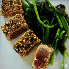 Tonijn met wasabi uit Een wereldreis rond de BBQ van Ralph de Kok
