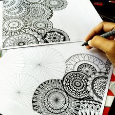 "270 Likes, 7 Comments - Surabhi Vijay Kuthiala (@intrikateink) on Instagram: ""Another one . . . . #intrikateink #mandala #blxckmandalas #heymandalas #beautiful_mandalas…"""