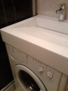 washing machine under the bathroom sink...