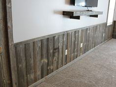 make it really real If you're thinking barn wood paneling would be so cool to have, ours is created with the highest quality wood and craftsmanship you'll find — plus, we don't know of Rustic Wainscoting, Reclaimed Wood Paneling, Wainscoting Styles, Rustic Wood Walls, Barn Siding, Wood Siding, Prefab Walls, Demis Murs, Wood Panel Walls