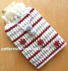 Free crochet pattern for hot water bottle pouch http://patternsforcrochet.co.uk/hot-water-bottle-pouch-usa.html #patternsforcrochet #crochet #freecrochetpatterns