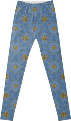 """""""ARDEN TREE LACE"""" LEGGINGS, BY DOVETAIL DESIGNS, from Print All Over Me.  This design features tree lace, trees budding in Spring against a blue sky.  This pattern will put a Spring in your step!"""