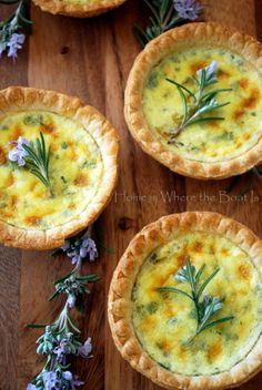 Goat cheese tart recipe with montrache cheese, basil and shallot - Inna Garten Recipe