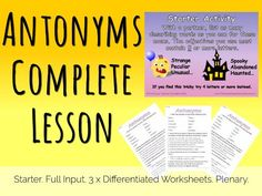 ... KS2 Grammar Lesson - 3 Levels of Differentiated Worksheets + Full