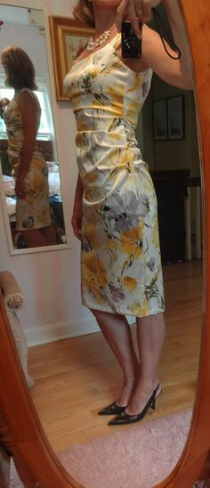 """Dressing over 50- dressing up with another """"London Times"""" dress"""