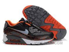 100% authentic d4608 feb31 Nike Air Max 1 Black-Orange 325018 021 Nike Air Max 90s, Mens Nike
