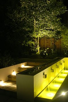 Water feature // Andy Sturgeon ö great use of light