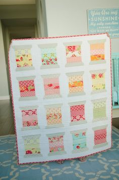 Bella Rose Quilts | Shop | Category: What's New | Product: Spools Kit by Thimble Blossoms Using Moda Marmalade Fabric
