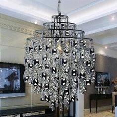 [ $63 OFF ] Modern Designer Chandelier Lighting E27 Spiral Silvery Lustre Acrylic Pendant Chandelier For Living Room