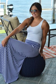 SOME BEACH Navy White Striped Maxi Skirt Shop Simply Me Boutique – Simply Me Boutique